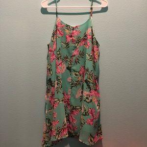 Peach love California floral dress